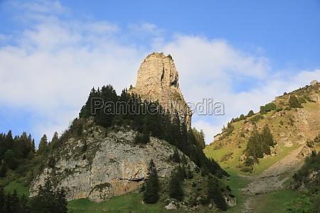 roriwanghorn in summer beautiful shaped mountain