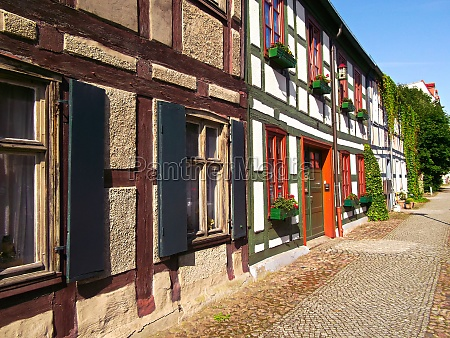 half timbered building in a historic