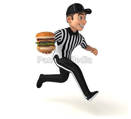 fun 3d illustration of an american