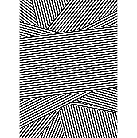 black and white abstract striped design