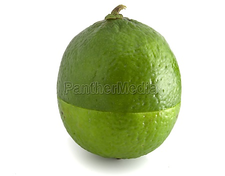 lime isolated on white background ripe