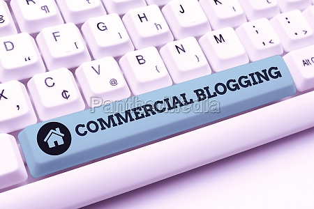 hand writing sign commercial blogging business
