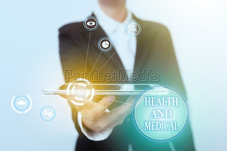 text sign showing health and medical