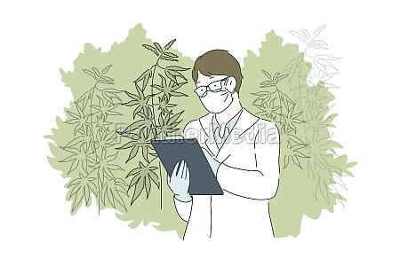 herbal alternative medicine concept