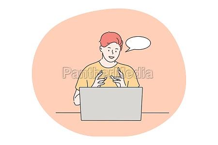 communication business freelance online education concept