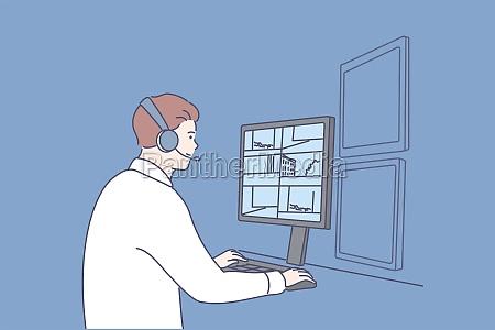 security surveillance safety concept