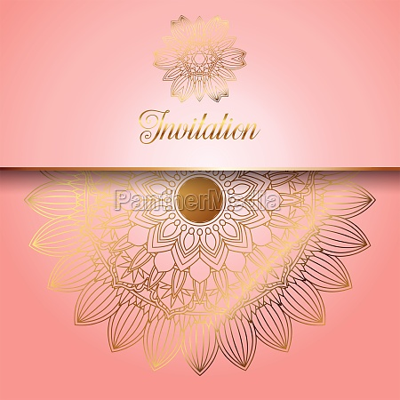 decorative invitation background 1107