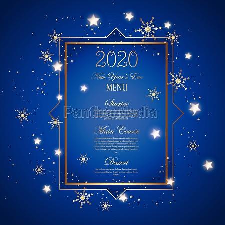 decorative new years eve menu design