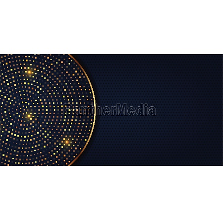 elegant banner design with golden dots