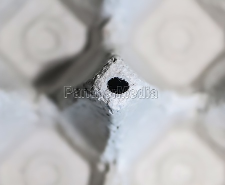 close up view at white cardboard