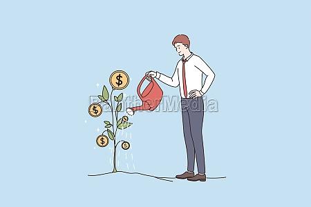 financial success wealth profit concept
