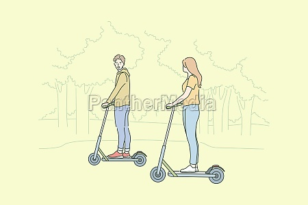 summer recreation riding leisure time concept