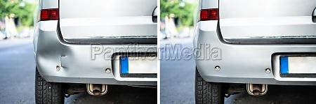 photo of car dent repair before