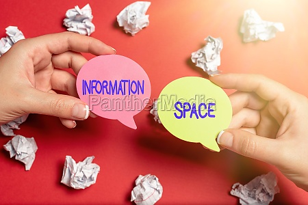 sign displaying information space business concept