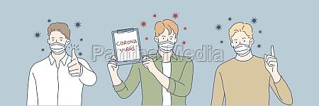 coronavirus medical mask protection health set