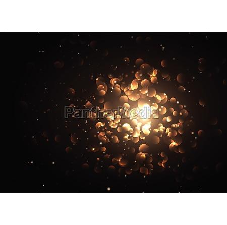golden bokeh lights design