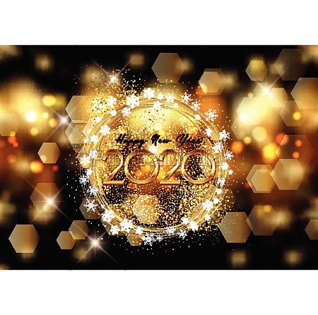 happy new year background with bokeh
