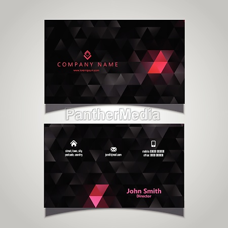 abstract modern business card with a