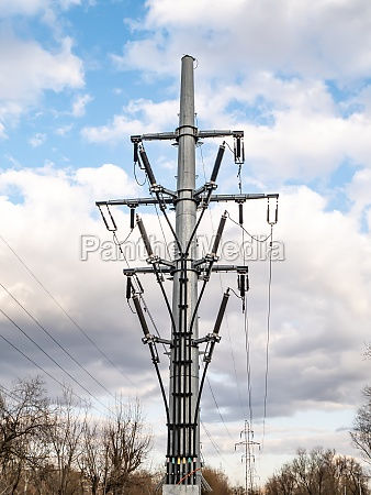 the tower of a high voltage