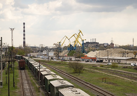 railroad infrastructure freight train station