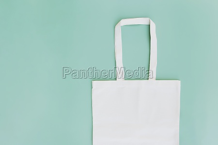 eco paper bag flat lay on