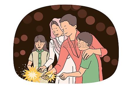 indian deepavali and christmas holiday concept