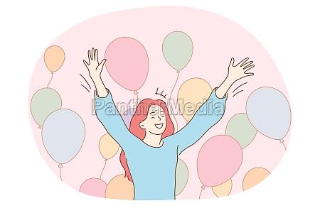 birthday celebration holiday party concept