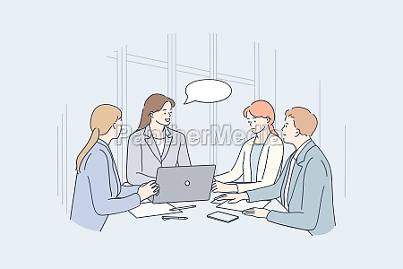 teamwork brainstorm business communication concept