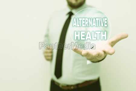 sign displaying alternative health business approach