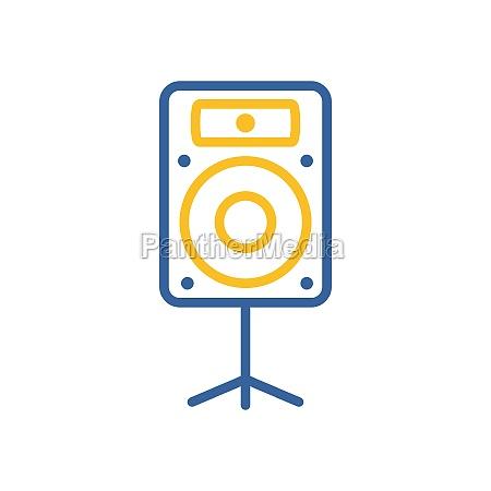 acoustic speaker vector icon music column