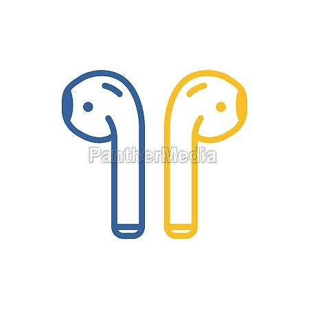 airpods wireless headphones vector icon