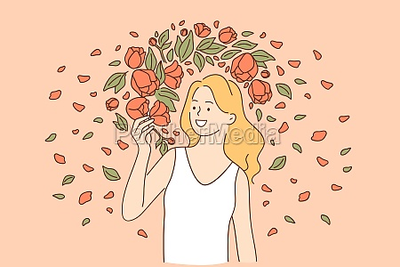 natural beauty and flowers concept