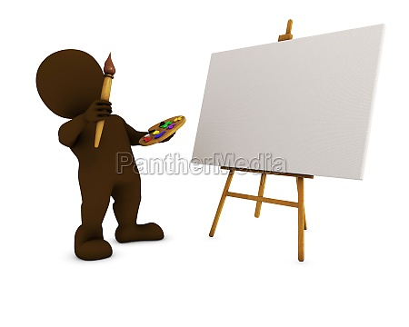 3d morph man painting