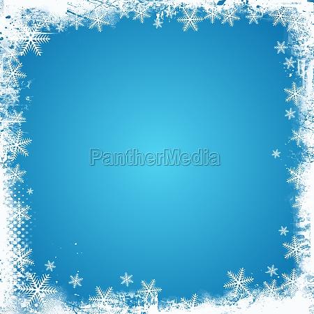 grunge snowflake border