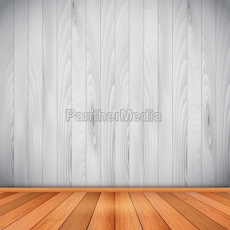 interior with wooden floor and walls