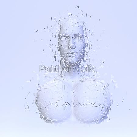 abstract polygonal human face