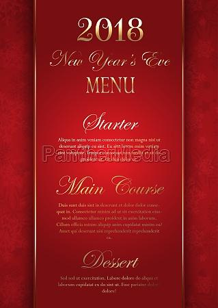 luxurious elegant new years eve menu