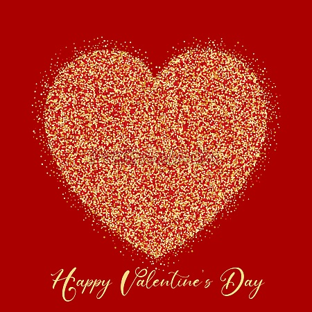 valentines day glitter heart