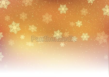 golden christmas snowflakes