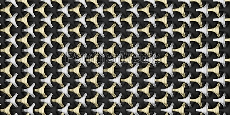 3d abstract geometric weave pattern
