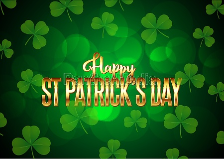st patricks day background with clover