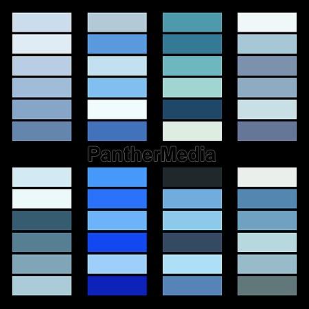 winter themed colour palettes