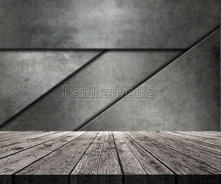 3d wooden table looking out to