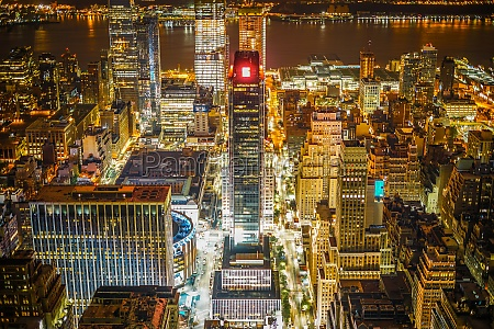 new york night view visible from