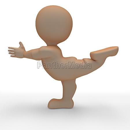 3d morph man in yoga pose