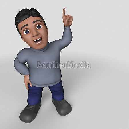 3d cartoon casual character