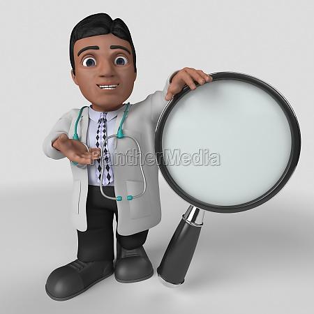 3d cartoon doctor character