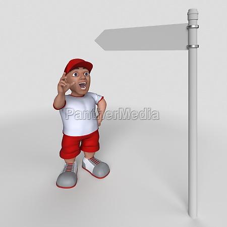 3d cartoon sports character