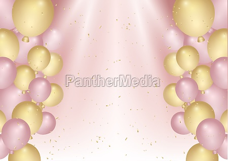 birthday celebration background with confetti and