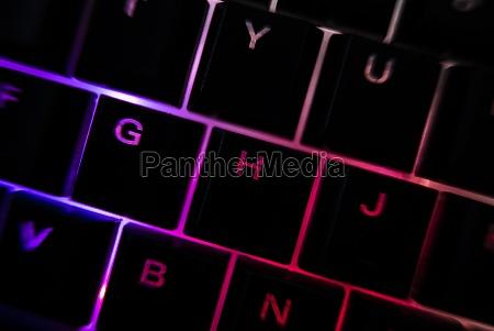 backlit keyboard detail 10